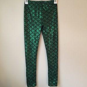 Shiny Green Mermaid Leggings